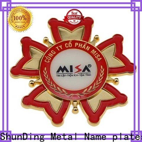 ShunDing domed stainless steel sticker with good price for meeting