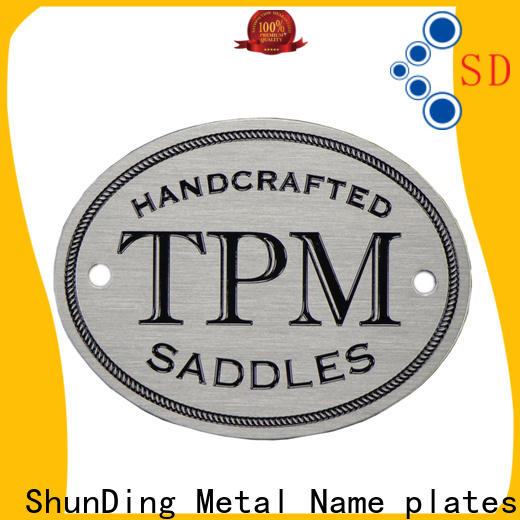 ShunDing custom metal plates by Chinese manufaturer for company