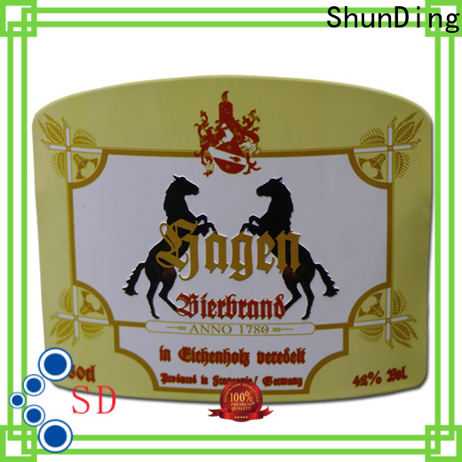 ShunDing bottle label maker producer for auction