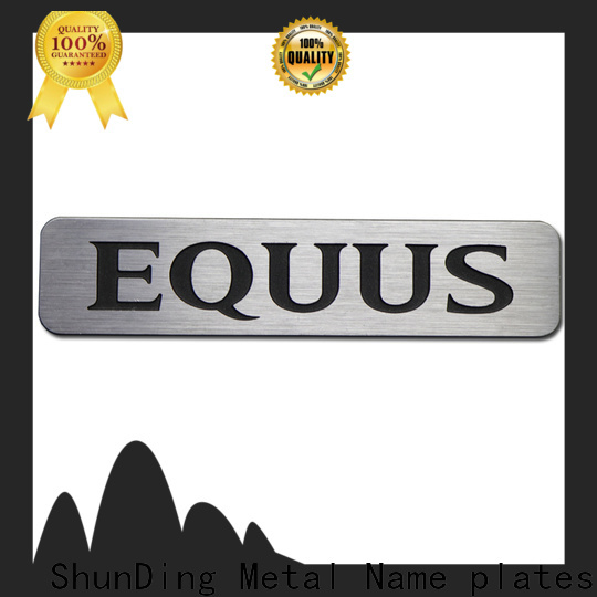 ShunDing inexpensive metal engraved name plates certifications for meeting