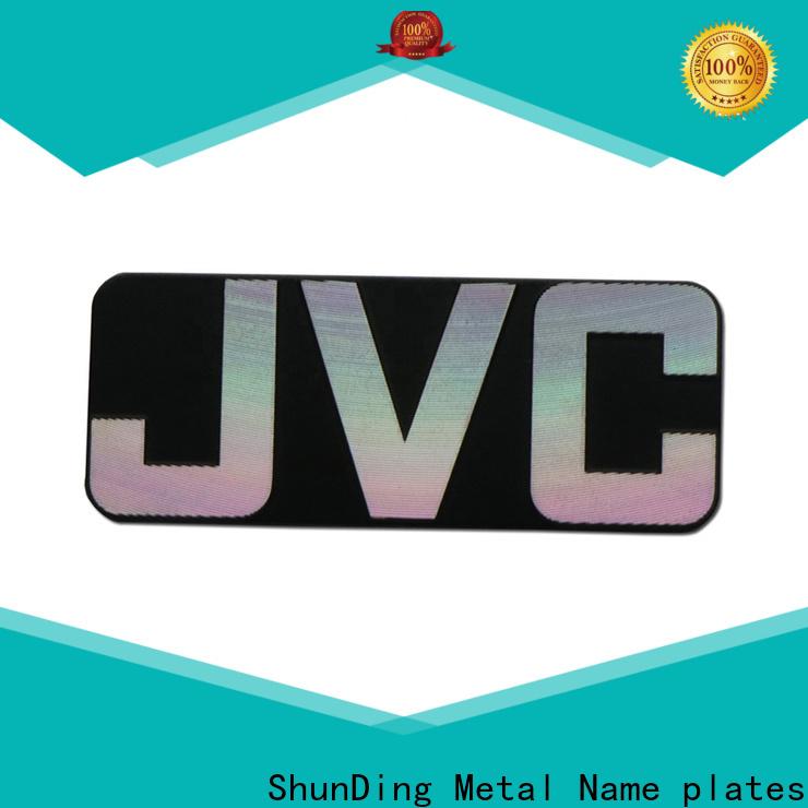ShunDing custom metal nameplates certifications for company
