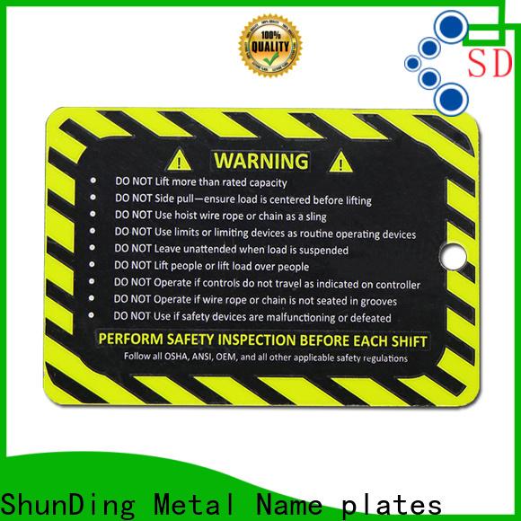 ShunDing effective stainless steel name plates vendor for company