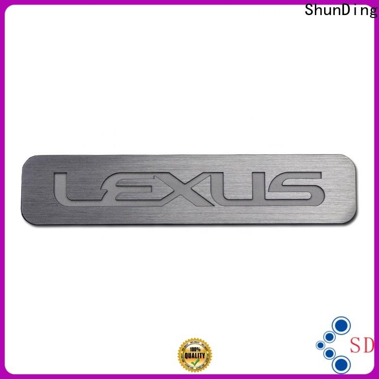 ShunDing useful stainless steel name plates certifications for souvenir