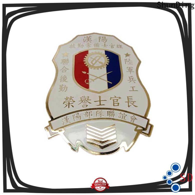 ShunDing plate metal logo badge price for commendation