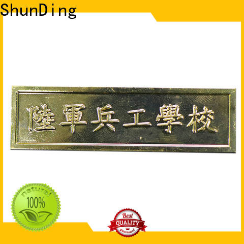 ShunDing brass name tags with cheap price for auction