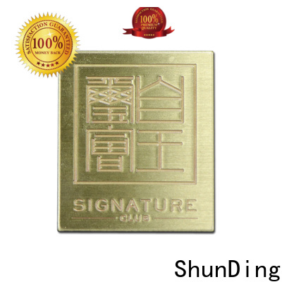 ShunDing small engraved plaques directly sale for souvenir