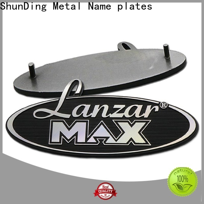 ShunDing stainless steel name plates certifications for auction