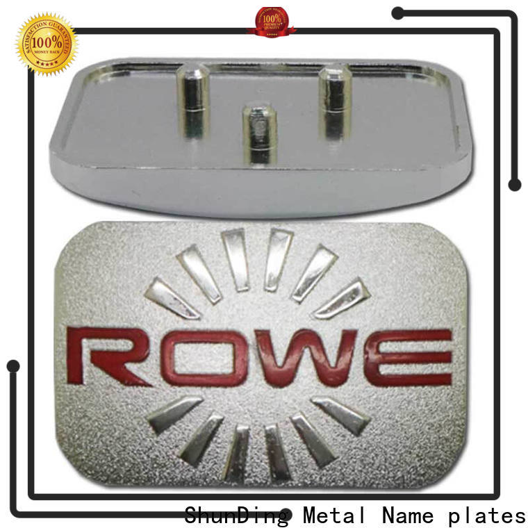 quality custom metal nameplates certifications for company