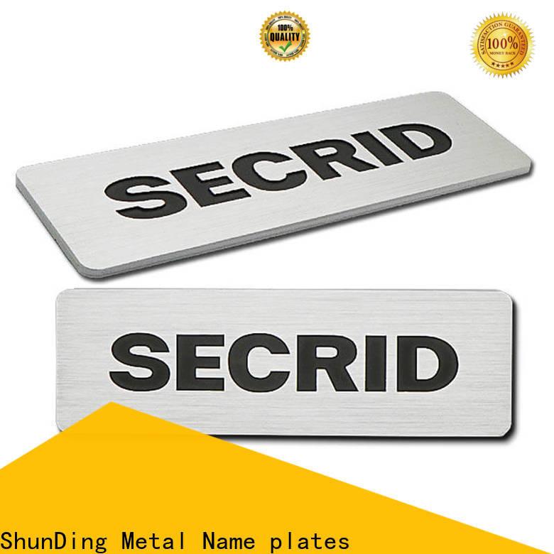 ShunDing steel name plates manufacturer for souvenir