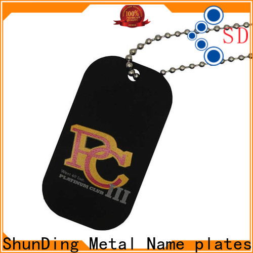 ShunDing garment tag metals for-sale for meeting