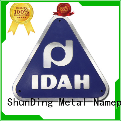 ShunDing metal custom name tags with cheap price for activist