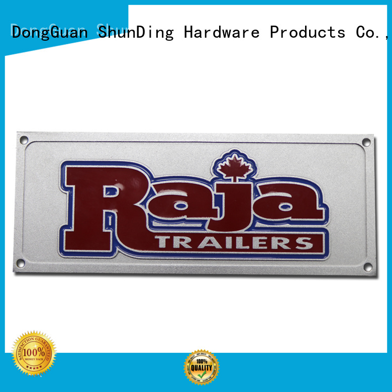 ShunDing embossing custom name plates with good price for meeting