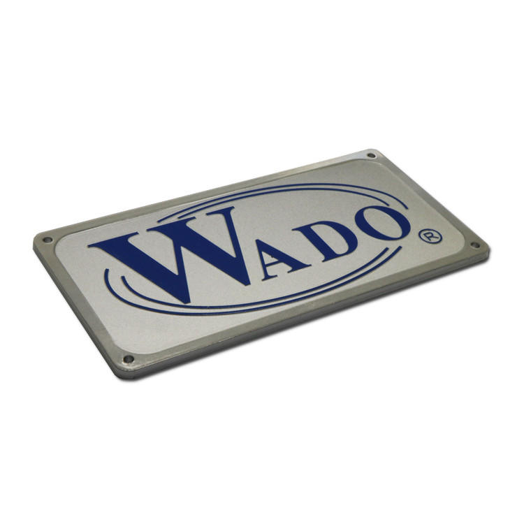 Anti-UV anodized metal name plates SD-N00017-1