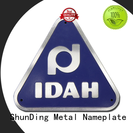 ShunDing diamondcutting personalized name plates with cheap price for meeting
