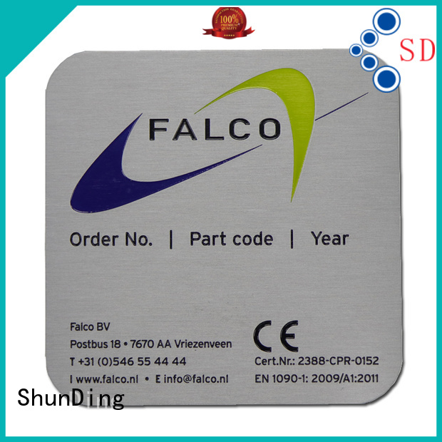durable office name plates brushing factory price for identification
