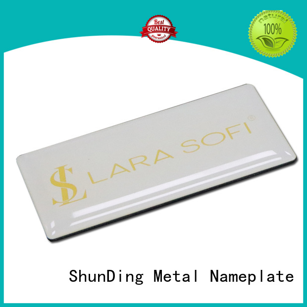 ShunDing inexpensive aluminum sticker by Chinese manufaturer for identification