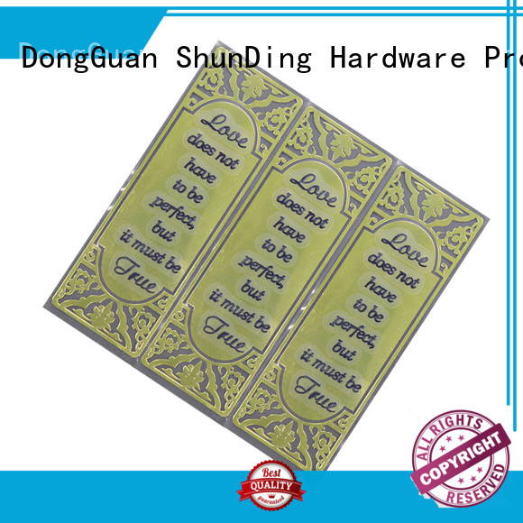 ShunDing etching aluminum sticker with good price for souvenir