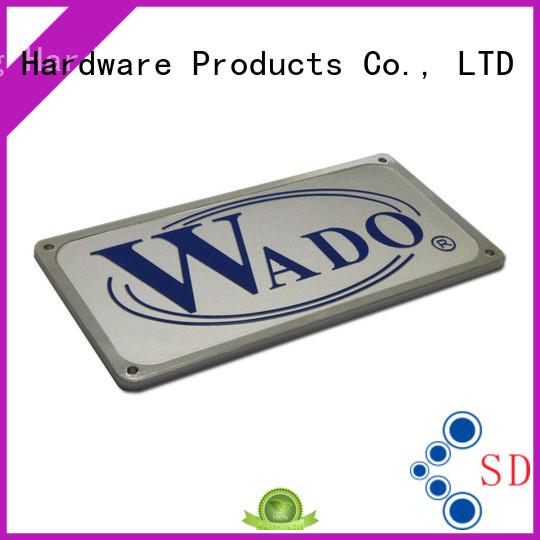embossed private metal door name plates mounting ShunDing
