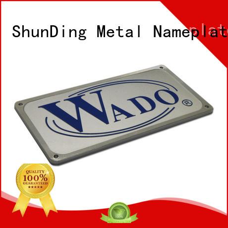 antiuv door name plates silver for meeting ShunDing