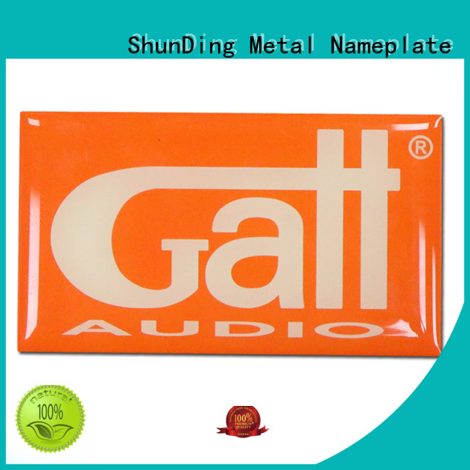 ShunDing sticker metal sticker factory price for staff