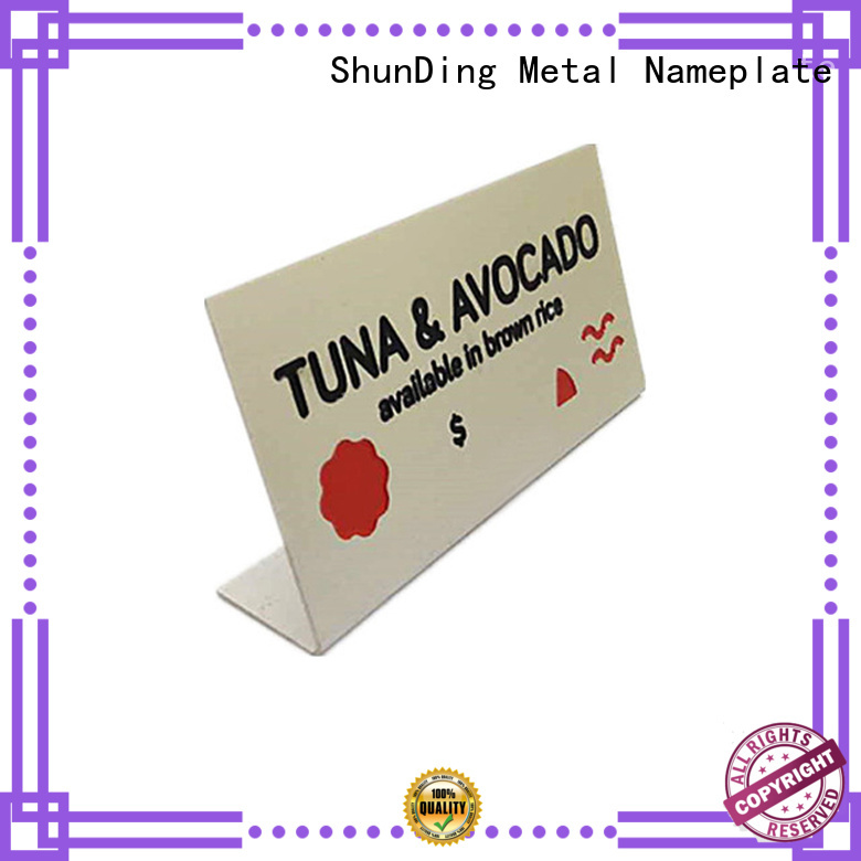 ShunDing quality table name plate by Chinese manufaturer for meeting