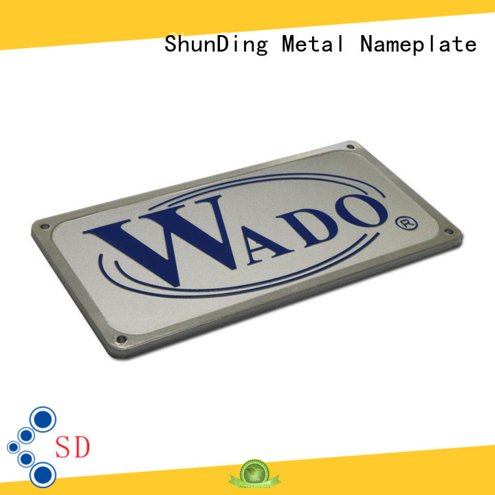 aluminium name plate antiuv for identification ShunDing