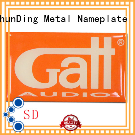 ShunDing anodized nickel sticker from China for staff