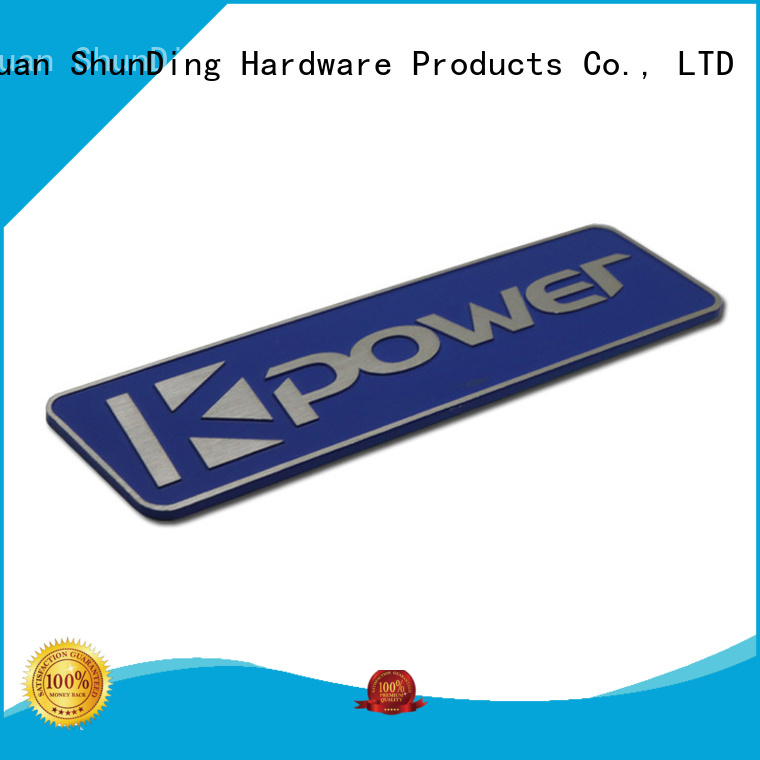 ShunDing cutting metal nameplates supply for company