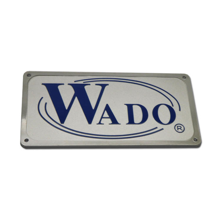 Anti-UV anodized metal name plates SD-N00017-2