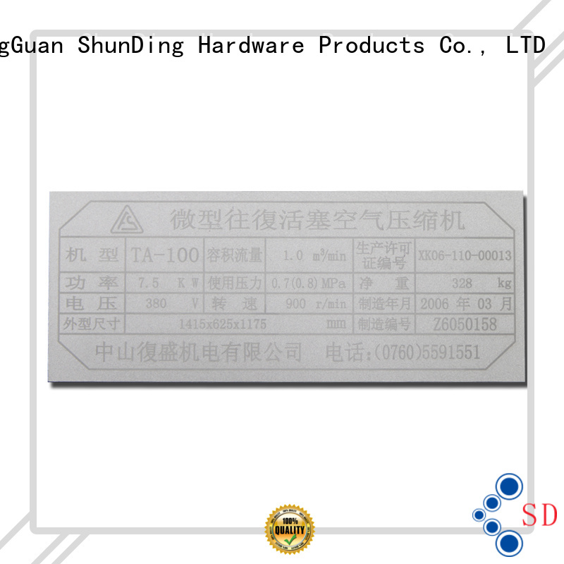 ShunDing fine- quality custom name tags with good price for activist