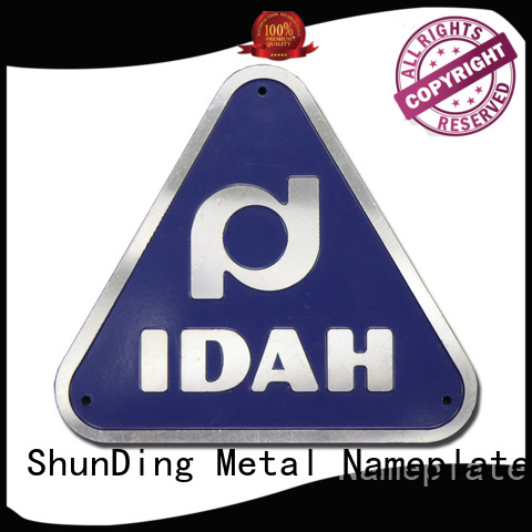 ShunDing 3d name plaques factory price for commendation