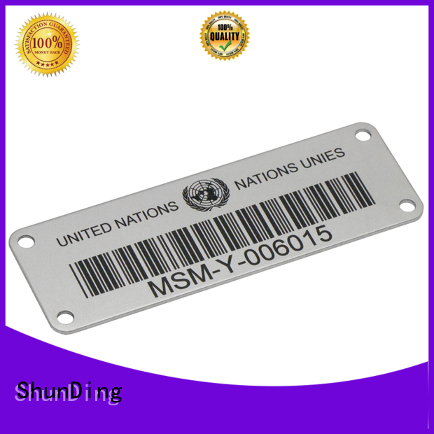 ShunDing quality best metal labels factory price for company