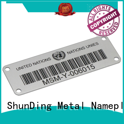 ShunDing color aluminium labels factory price for company