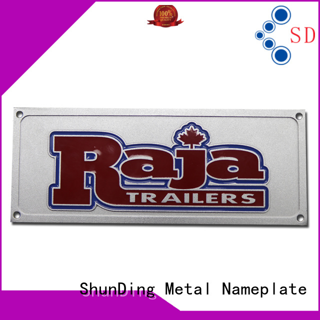 ShunDing aluminum personalized name plates with good price for identification