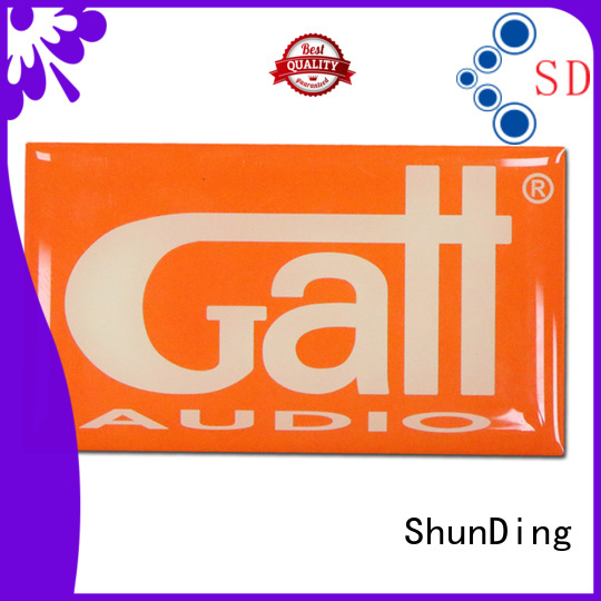 ShunDing customized metal plate sticker factory price for staff