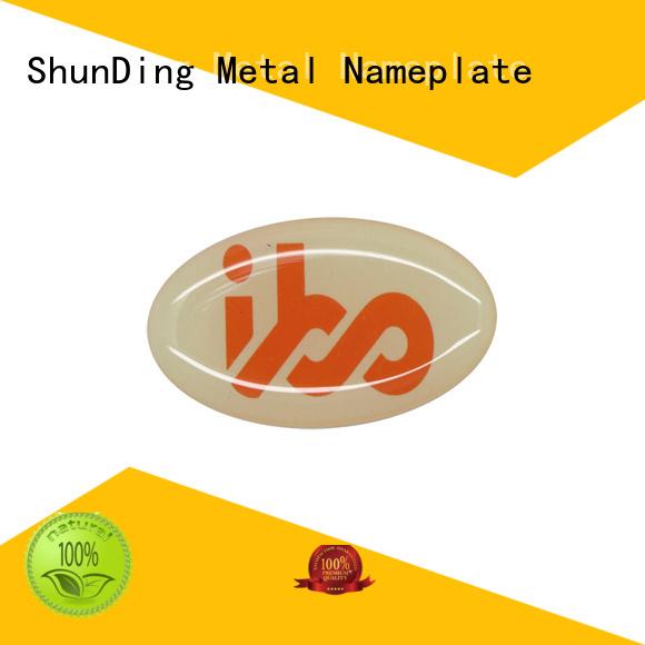 ShunDing metal metal nameplates vendor for activist