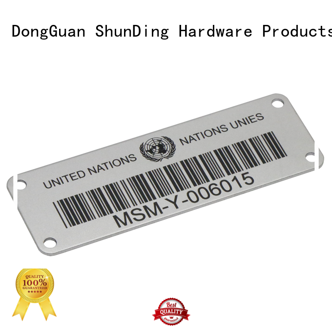 high-quality custom metal labels logo for commendation