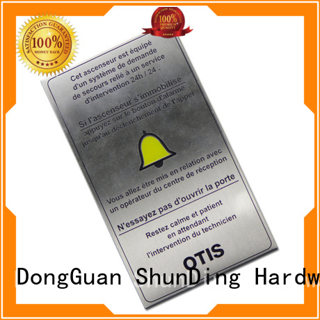 ShunDing gold custom name tags by Chinese manufaturer for company