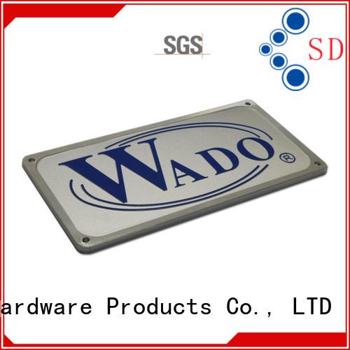 custom name plates silver for commendation ShunDing