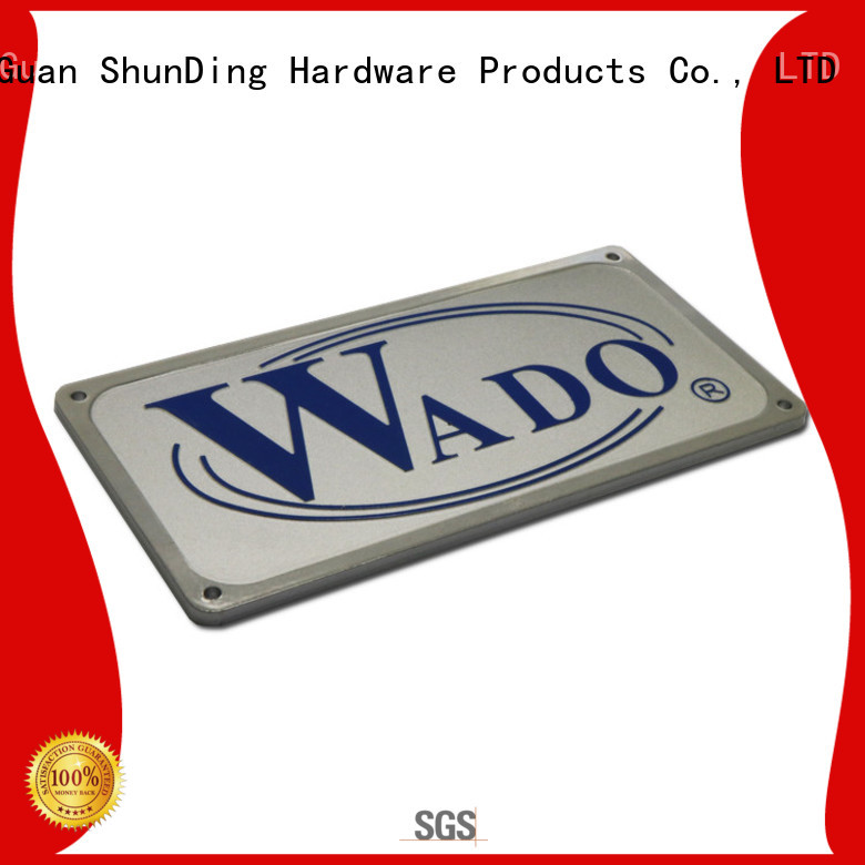 ShunDing fine- quality metal nameplate with good price for commendation