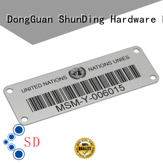 ShunDing printing steel label factory price for company