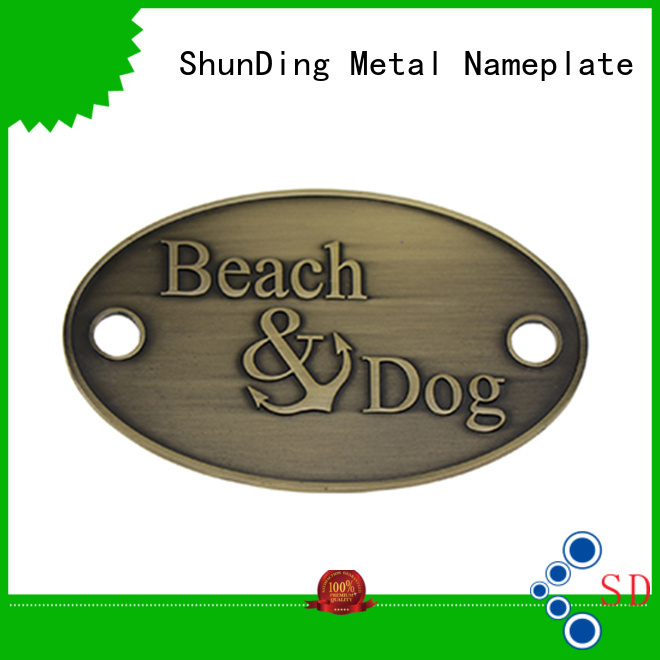 ShunDing gold personalized name plates with good price for company