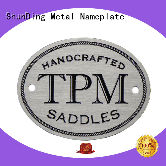 ShunDing anodized table name plate with good price for auction