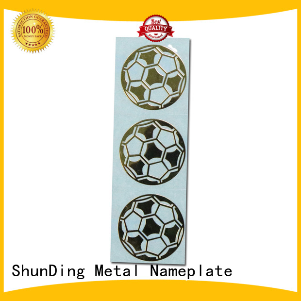 fashion aluminum sticker etching from China for staff