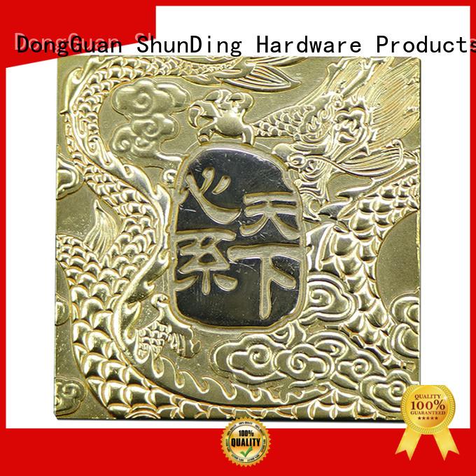 ShunDing fine- quality custom name plates from China for souvenir
